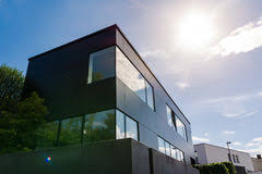 exterior office. Modern German Architecture Geometric Small Office Building Sun F. Lare  Exterior Royalty Free Stock Photo Exterior Office