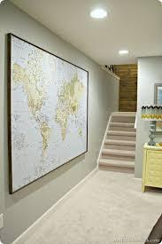 large world map poster framed world map brown framed canvas art in framed wall map prepare vintage poster designs