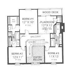 georgian house plans. Georgian House Plan Second Floor - 036D-0192 | Plans And More O