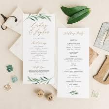 Program Templates Word Greenery Wedding Programs Template Printable Wedding Program 18