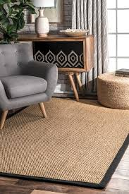 casual natural linus sisal and jute area rug sand tropical area rugs by nuloom