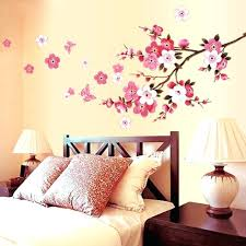 cherry blossom branch and birds vinyl wall decal sticker tree on stickers