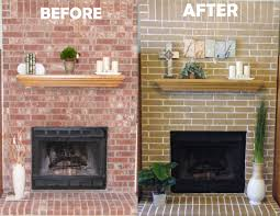 Cheap Fireplace Makeover Ideas Living Room Paint Colors With Red Brick Fireplace