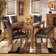Kitchen Table With Bench Set Signature Design By Ashley Lacey 6 Piece Dining Table With Side