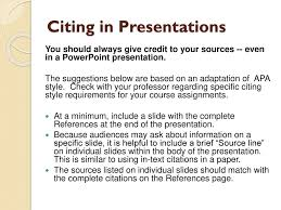 Citing In Presentations Ppt Download
