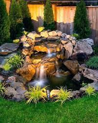 small pond waterfall ideas backyard