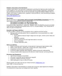 medical assistant pediatrics salary medical job description medical records job duties
