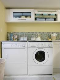 Laundry Room: White Laundry Room Design With Small Space Solutions - Dining  Room