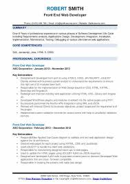 On this page you will find examples of professionally designed web developer resumes. Front End Web Developer Resume Samples Qwikresume