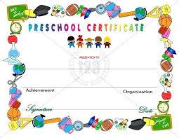 Kids Certificate Templates Amazing Preschool Certificates For Your