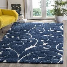 safavieh florida scrollwork elegance dark blue cream area rug throughout and design 16