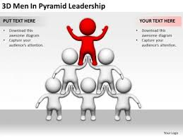Business People Clipart 3d Men Pyramid Leadership Powerpoint