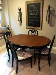 french provincial dining table and chairs painted with general finishes l black