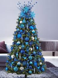 Add Zing With Pink Green And Blue Christmas Décor Blue Christmas Tree Ideas