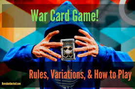 The cards have the normal rank from highest to lowest: War The Card Game Rules How To Play Boredombusted