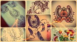 эскизы тату подкова интересные рисунки для татуировки с подковой