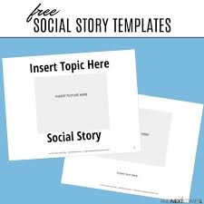 How To Write A Children S Story Template Free Social Story Templates Social Stories Autism Social