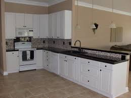 Kitchen With Tile Floor Tile Floor Kitchen White Cabinets