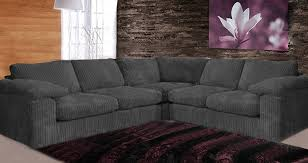 Large Grey Fabric Corner Sofa Savae Org