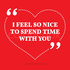Inspirational Love Quote I Feel So Nice To Spend Time With You Simple Trendy Design Stock Vector Colourbox Interesting Nice And Simple Quotes