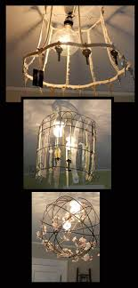 Diy Repurposed Light Fixtures An Old Lamp Shade Frame Some Wire