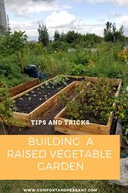 building a raised garden bed comfort