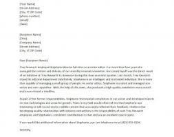 Awesome Collection Of Writing A Reference Letter Reference Letter