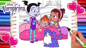Vampirina Sleepover Coloring Page Vee Bridget And Poppy