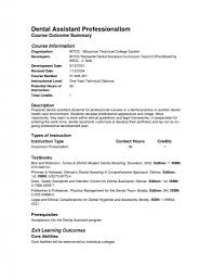 Resume Examples Dental Assistant Resume Examples No Experience Of