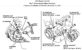 1991 honda civic alternator replacement electrical problem 1991 disconnecting the alternator is one thing taking it out from the engine compartment is another removing the brake master would increase the access for you