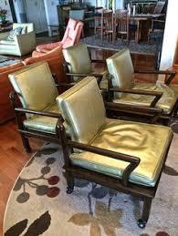 john widdib mid century modern set of 4 leather club chairs