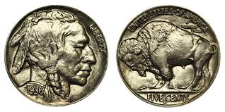 1936 D Buffalo Indian Head Nickel Coin Value Prices