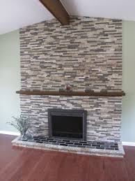 diy demo you inspiring ideas stone facade over brick fireplace installing veneer chimney best image voixmag com