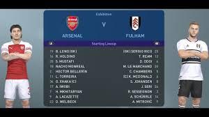 PES 2019 - Arsenal vs Fulham - Gameplay HD PES PC - YouTube