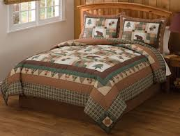 awesome rustic cabin comforter sets bedding lodge quilt ranch style 4 with cabin bedding sets plan