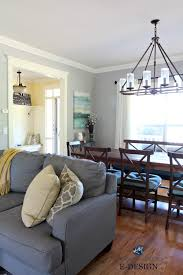benjamin moore revere pewter living room. Benjamin Moore Revere Pewter In Living Room With Gray Sectional. Yellow Entryway, Farmhouse Style Table And Light. Kylie M E-design Interiors