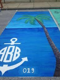 my beach themed monogrammed senior parking spot