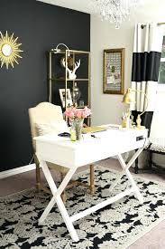 feminine home office. Home Office Styles Black White And Gold Glam Feminine Industrial Style