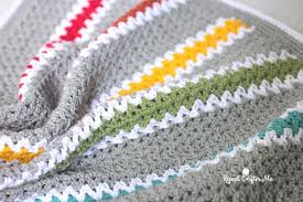V Stitch Crochet Pattern Adorable Crochet Vstitch Rainbow Blanket Repeat Crafter Me