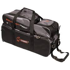 ball roller. hammer triple tote 3 ball roller bowling bag with pouch s