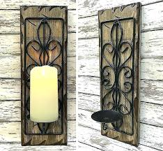 metal wall sconces for candles wrought iron candle holders votive unique tags large sco
