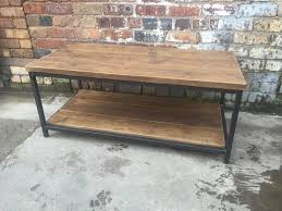 industrial reclaimed furniture. Coffee Table With Shelf - Industrial Reclaimed Style Furniture R