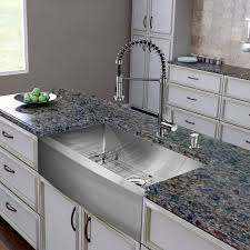 vigo 36 inch farmhouse a single bowl 16 gauge stainless steel kitchen sink with edison stainless steel faucet grid strainer and soap dispenser touch