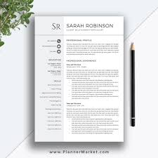 Teacher Resume Template Cv Template Professional Modern Resume Cover Letter Ms Word Instant Download The Sarah Resume