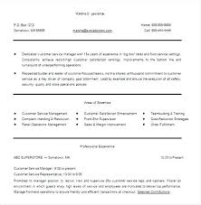 Food Service Resume Objective Examples Nursing Supervisor Resume