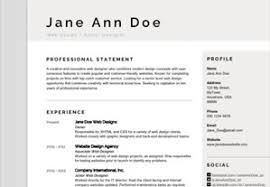 Resume Template Modern Classy Resume Templates From GraphicRiver