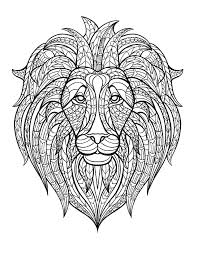 Small Picture Africa lion head Africa Coloring pages for adults JustColor
