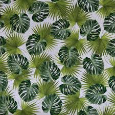 tropical palm leaves fabric quality digital print upholstery 100 cotton