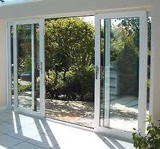 white upvc 4 pane sliding patio doors