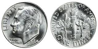 Roosevelt Dime Value Chart 1964 D Roosevelt Silver Dime Coin Value Prices Photos Info